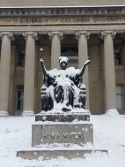 Early Dec 74 Columbia Alma Mater snow