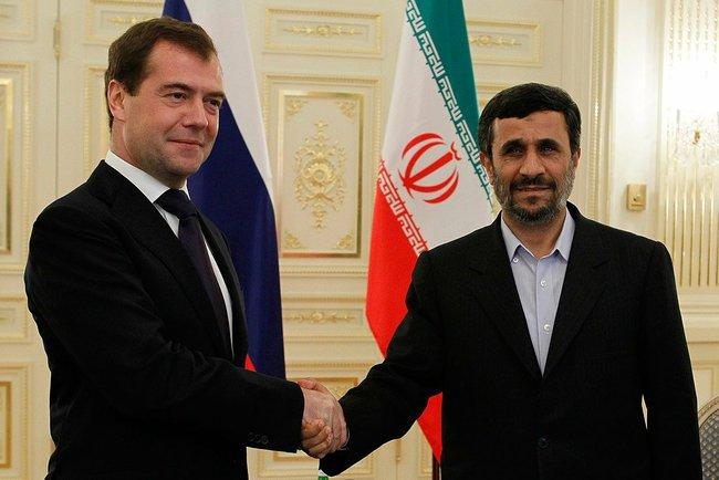 With President of Iran Mahmoud Ahmadinejad. Kremlin.ru
