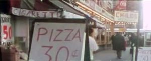 NYC streets pizza 30 cents