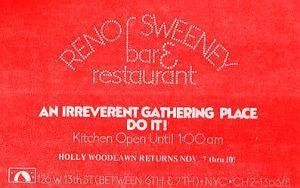 Reno Sweeney ad paper