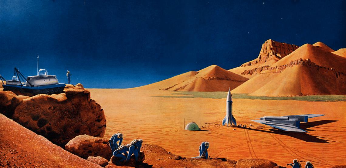 Mars 1956 via Flickr - James Vaughan (artist: Chesley Bonestell)