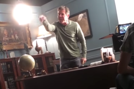 Watch Dennis Quaid Completely Freak Out On A MovieSet