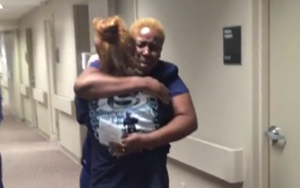 Watch This Heartwarming Video Of A Patient Surprising Her Favorite Nurse With AmazingNews