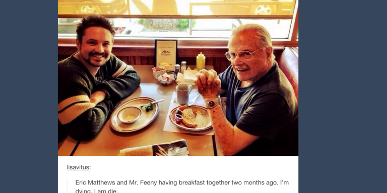 Eric Matthews And Mr. Feeny Just Had Breakfast Together <3
