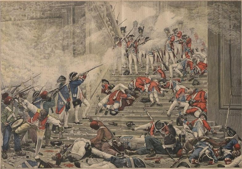 The massacre of the Swiss Guard at Tuileries Palace via Wiki Commons