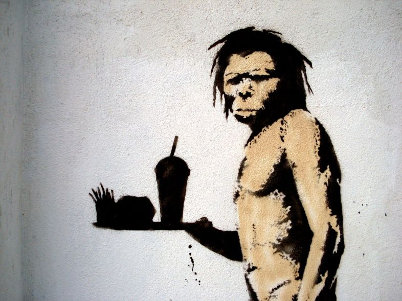 The Caveman by Banksy via Flickr - Lord Jim