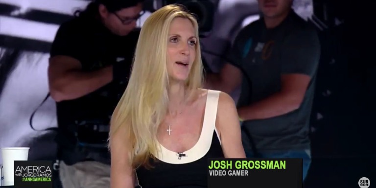 Inhuman Ann Coulter Refuses To Let Gamer Touch HerFeet