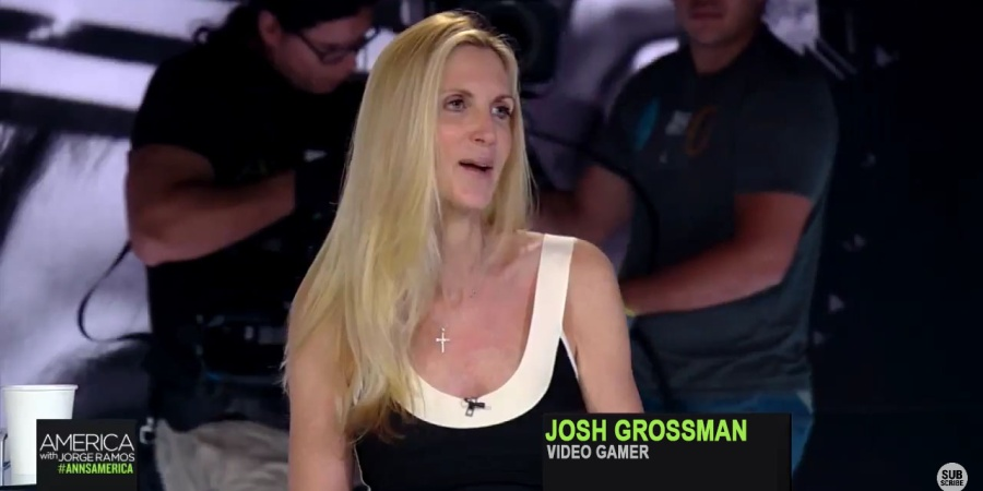 Inhuman Ann Coulter Refuses To Let Gamer Touch Her Feet