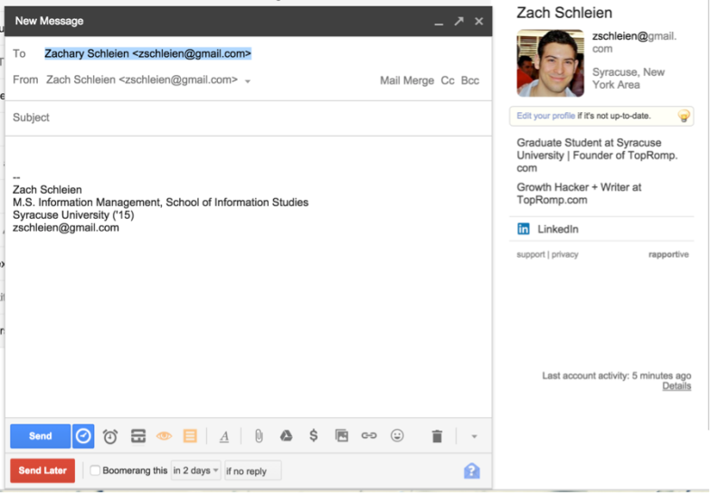 Gmail x Rapportive