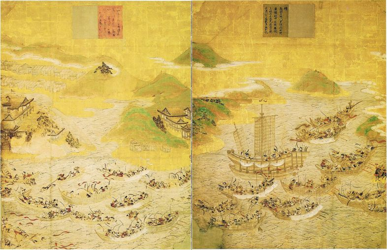 Battle of Dan-no-ura via Wiki Commons
