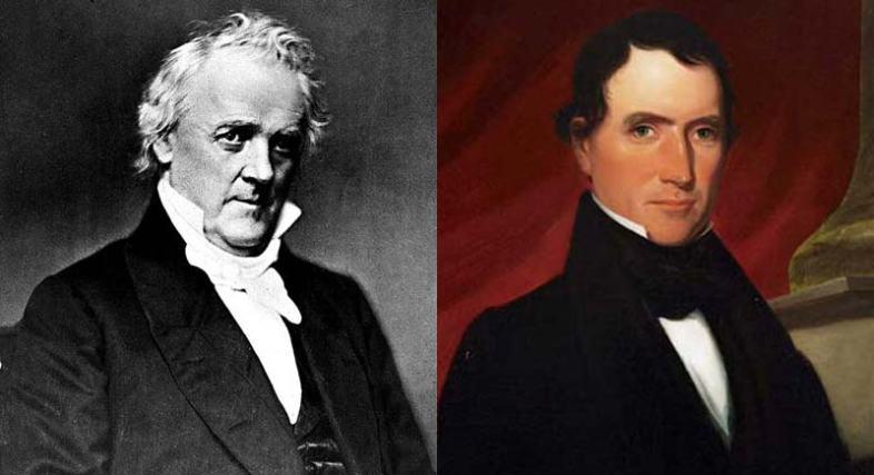 James Buchanan and Rufus King. (Wikimedia Commons)