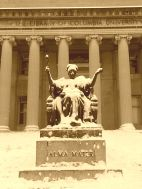 Columbia Alma Mater snow