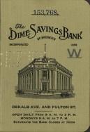dime savings bank passbook