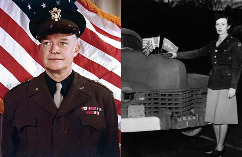 Dwight D. Eisenhower and  Kay Summersby. (Wikimedia Commons)