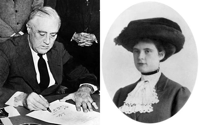 Franklin Delano Roosevelt and Lucy Mercer. (Wikimedia Commons)