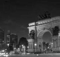 grand army plaza at night