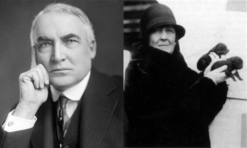 Warren G. Harding and  Carrie Fulton Phillips (Wikimedia Commons)