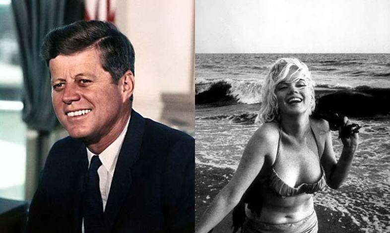 John F. Kennedy and Marilyn Monroe. (Wikimedia Commons)