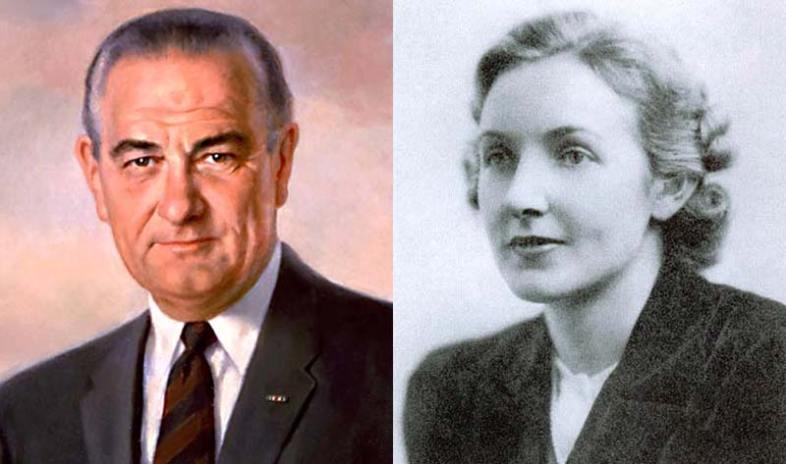 Lyndon Baines Johnson and Alice Glass (Wikimedia Commons)