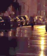 night rainy bklyn street