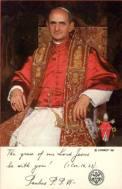 pope paul postcard