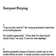 Rampant Burping opening