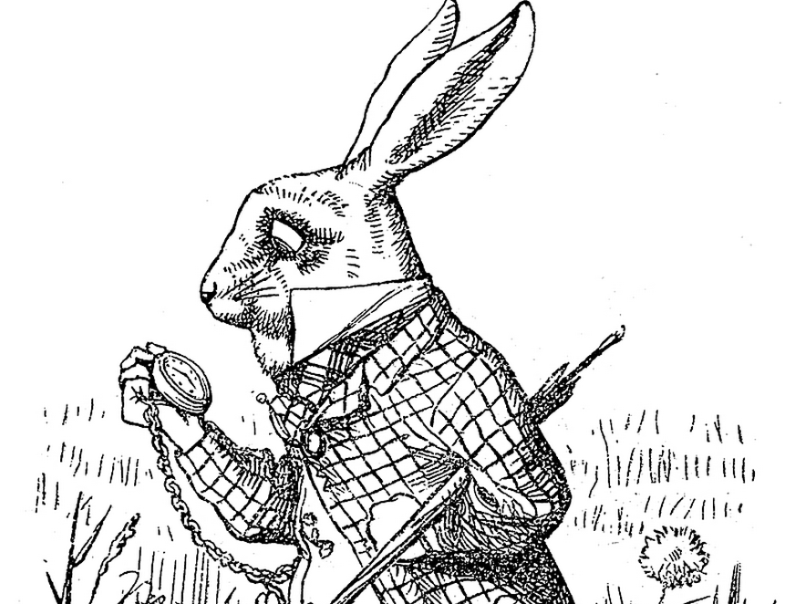 Lewis Carroll's White Rabbit via Wiki Commons