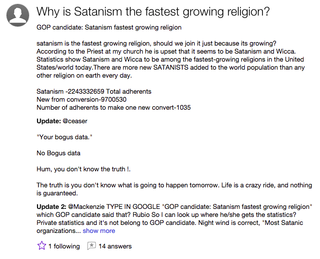 Screenshot via Yahoo Answers