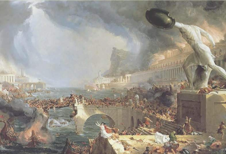 """""""The Course of Empire: The Destruction"""" (1836) by Thomas Cole"""