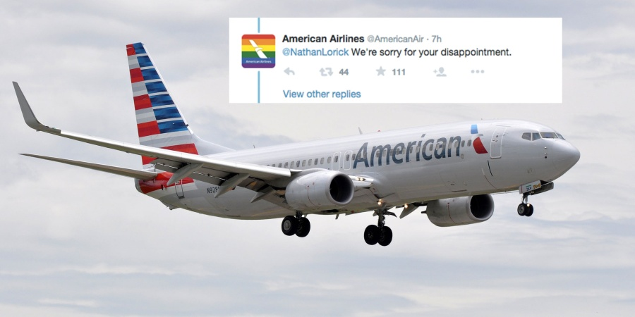 American Airlines Responded To An Anti-LGBT Passenger In The Most Epic WayPossible