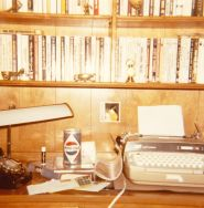 1975 desk with typewriter