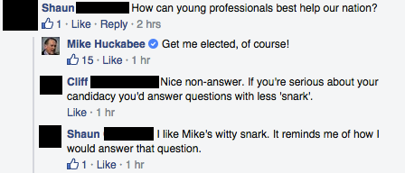 Facebook / Mike Huckabee