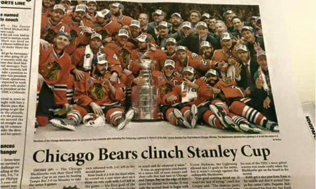 Korean Newspaper Congratulates Chicago Bears For Winning NHL's StanleyCup