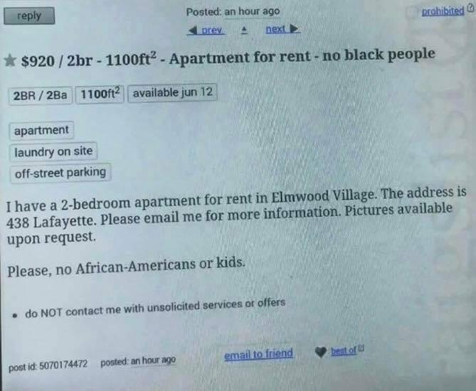 This Apartment Rental Ad Listed On Craigslist Actually ...