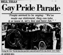 gay pride parade 1975 bell tells