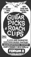 guitar picks and roach clips