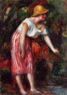 renoir woman in a straw hat