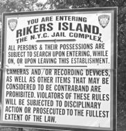 rikers island sign