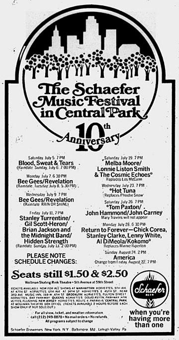schaefer music festival poster