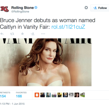 People Aren't Too Happy At This Rolling Stone Tweet About Caitlyn Jenner