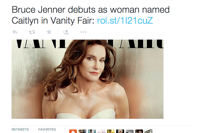 People Aren't Too Happy At This Rolling Stone Tweet About CaitlynJenner