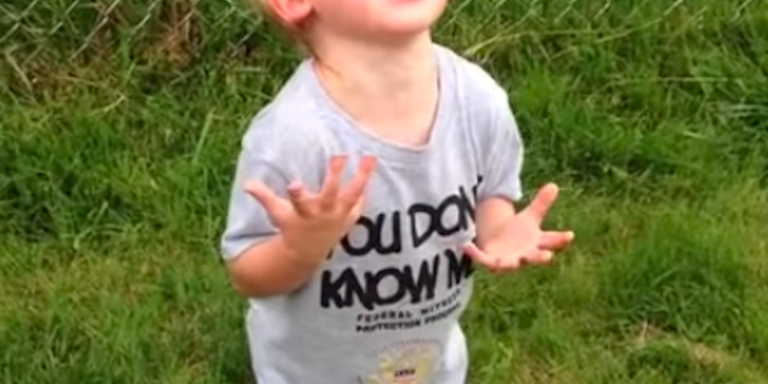 Watch This Little Boy Flip Out Because He Stepped In Dog Sh*t