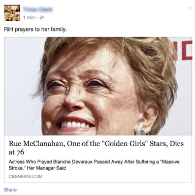 Rue McClanahan Of The 'Golden Girls' Died In 2010, But Here Are Some People Who Believe She Just Passed Away