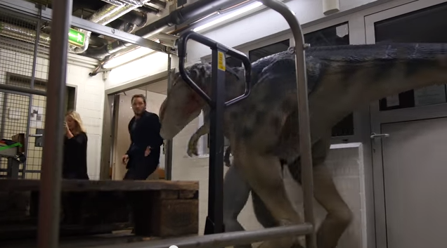 Watch Chris Pratt Get The Sh*t Scared Out Of Him By FakeDinosaurs