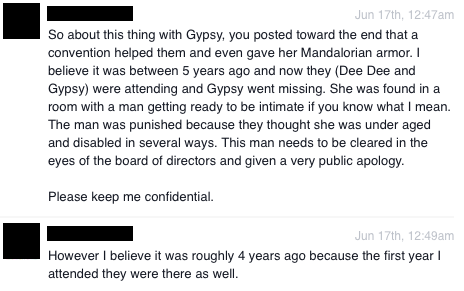 Facebook via private message