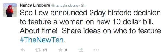Twitter / @nancylindborg