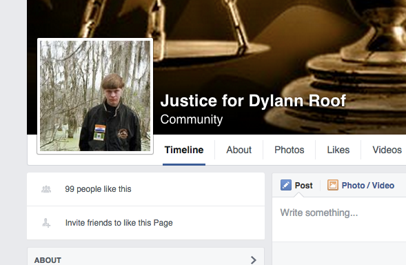 'Justice For Dylann Roof' Is A Real FacebookPage