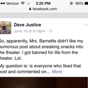 Playful Facebook Post About A Movie Theater's Prices Leads To Man Being Banned And Massive Social Media Drama