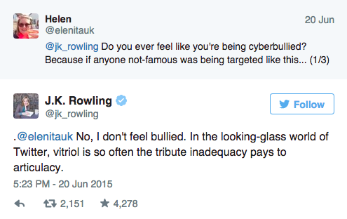 The Amount Of Ownage JK Rowling Dished Out On Twitter Is Enough To Make VoldemortCry