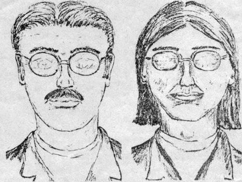 Police sketch of intruders. Wikimedia Commons